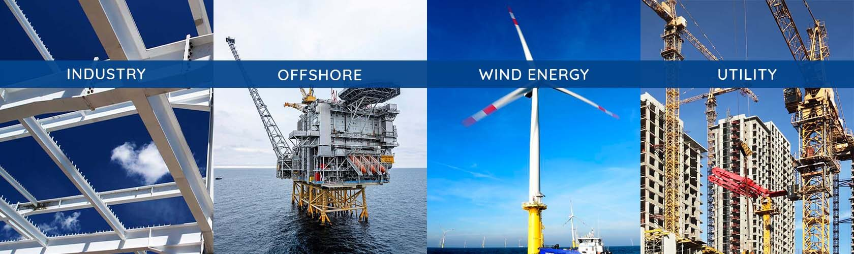 We cover a range of industries and their strut & support manufacturing needs ESM works with the Offshore industry, Wind Energy industry, construction industry